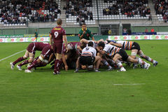Narbonne contre le Bordeaux-Begles Photographie stock libre de droits