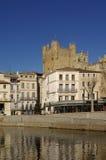 Narbonne De Los angeles Robine w Narbonne i Kanał, Zdjęcia Stock