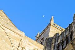 Narbonne et lune Image libre de droits