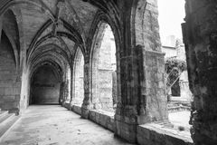 Narbonne (France), cathedral cloister Stock Photography