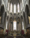 Narbonne (France), cathedral interior Royalty Free Stock Photos