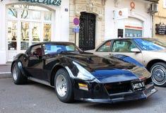Narbonne Frankrike, 12th av mars, 2017 Fantastiska klassiska bilar som ställs ut under Narbonne årlig klassisk bilfestival Arkivbilder