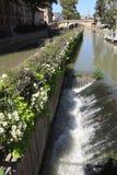 Narbonne kanal Arkivfoton