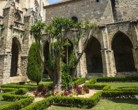 Narbonne, kathedraalklooster royalty-vrije stock fotografie