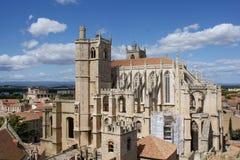 Narbonne-Kathedrale stockfotografie