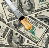 Narcótico y dinero Imagen de archivo libre de regalías