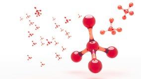narc Sumário da molécula dos átomos de carbono Fotografia de Stock Royalty Free