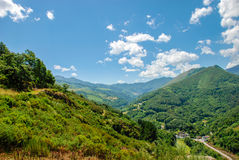 Narcea river valley. View of the Narcea river valley, Asturias. Spain Royalty Free Stock Photography
