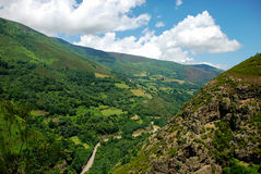 Narcea river valley. View of the Narcea river valley, Asturias. Spain Stock Photo