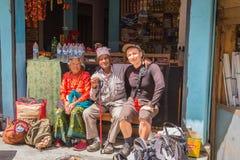 NARCHYANG, NEPAL 18. MÄRZ: Himalajaleute 18, 2015 in Narchyan Stockfotografie