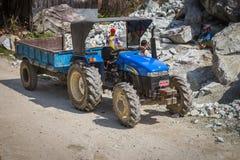 NARCHYANG, NEPAL 18. MÄRZ: Himalajaleute 18, 2015 in Narchyan Lizenzfreie Stockfotos
