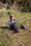 NARCHYANG, NEPAL 21. MÄRZ: Himalajaleute 21, 2015 in Narchyan Stockfotografie