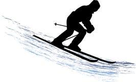 narciarka śnieg Obraz Royalty Free