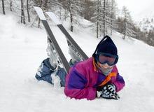 narciarka Fotografia Stock