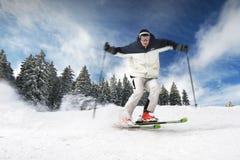 narciarka Obrazy Royalty Free