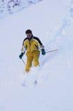 narciarka mountain Zdjęcia Royalty Free