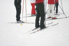 narciarka prowincji Obrazy Stock