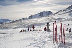 narciarki fotografia stock