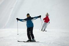 narciarki Obrazy Royalty Free