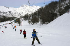 narciarki Obraz Royalty Free