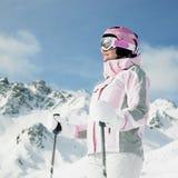 narciarki kobieta fotografia stock