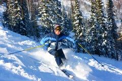 narciarki skłonu kobieta Zdjęcia Royalty Free