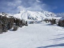narciarscy ślada Zdjęcie Stock