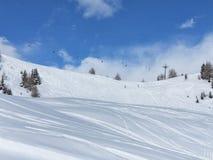 narciarscy ślada Fotografia Stock