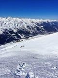 narciarscy skłony w France alps górach fotografia royalty free