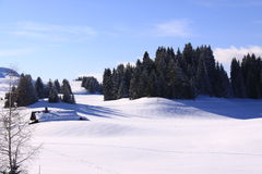 narciarscy skłony Zdjęcia Royalty Free