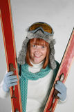 narciarska kobieta Obrazy Royalty Free