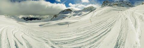 Narciarska skłon panorama fotografia stock