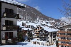 narciarska wioska Zdjęcia Stock