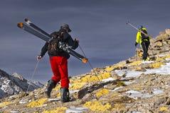 narciarska wycieczka turysyczna Zdjęcia Stock