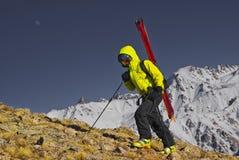 narciarska wycieczka turysyczna Obrazy Royalty Free