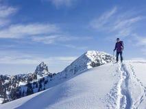 Narciarska wycieczka turysyczna Risserkogel w zimie Obraz Royalty Free