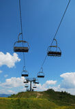 Narciarski dźwignięcie na Monte Zoncolan w lecie Fotografia Royalty Free