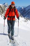 narciarski krajoznawstwo Zdjęcie Royalty Free