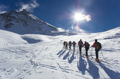 narciarski krajoznawstwo obrazy stock