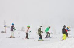 narciarski kurortu widok Austria Obraz Royalty Free