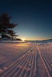 narciarski ślad Zdjęcia Royalty Free