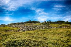 Narciarski skłon Medvedin w Gigantycznych górach w republika czech jest beuatiful w suumer T zdjęcia stock