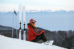 narciarski skłon Zdjęcia Stock