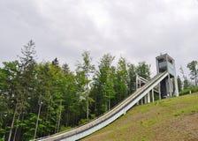 Narciarski skok w Wisla Obraz Royalty Free