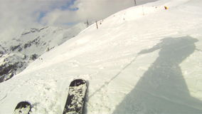 Narciarski zjazdowy na nartach zdjęcie wideo