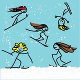 Narciarskie dziewczyny Royalty Ilustracja