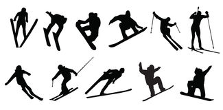 Narciarstwo bawi się zimy jazda na snowboardzie Fotografia Stock