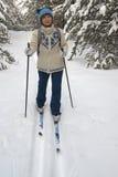 narciarstwo kobieta zdjęcia stock