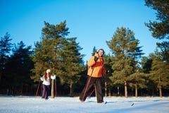 Narciarstwo na weekendzie Zdjęcie Royalty Free