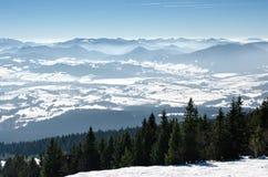 Narciarstwo parkowy Kubinska Hola, podróży miejsce przeznaczenia dla zimy być na wakacjach Zdjęcia Royalty Free